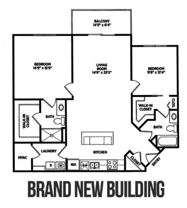 2 Bedrooms 2 Bathrooms Apartment for rent at Verndale Apartments in Lansing, MI