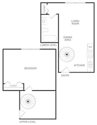 1 Bedroom 1 Bathroom Apartment for rent at The Oaks Apartments in East Lansing, MI