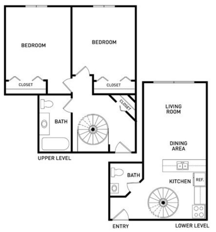 2 Bedrooms 1 Bathroom Apartment for rent at The Oaks Apartments in East Lansing, MI