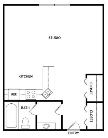 Studio 1 Bathroom Apartment for rent at Studio House Apartments in East Lansing, MI