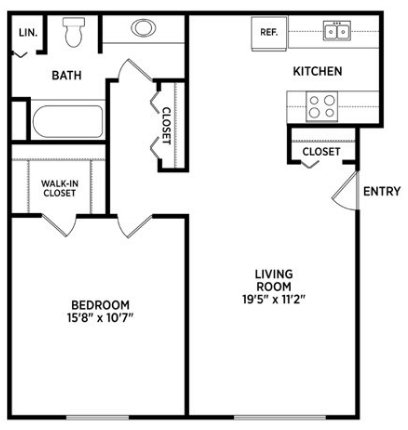 1 Bedroom 1 Bathroom Apartment for rent at East Knolls Apartments in East Lansing, MI