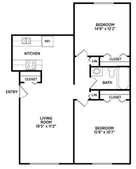 2 Bedrooms 1 Bathroom Apartment for rent at East Knolls Apartments in East Lansing, MI