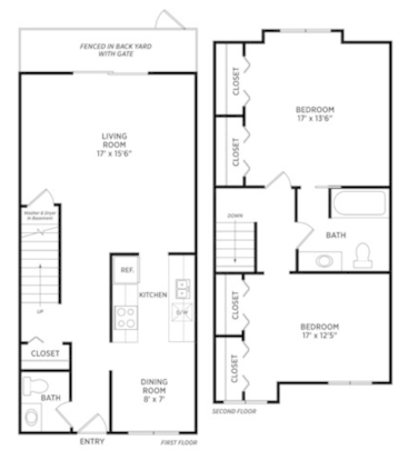 2 Bedrooms 1 Bathroom Apartment for rent at Carriage Hill East in East Lansing, MI