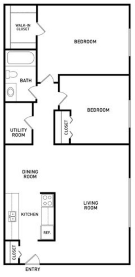 2 Bedrooms 1 Bathroom Apartment for rent at Summerhill Estates Apartments in Lansing, MI