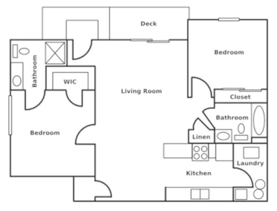 2 Bedrooms 2 Bathrooms Apartment for rent at Summerhill Estates Apartments in Lansing, MI