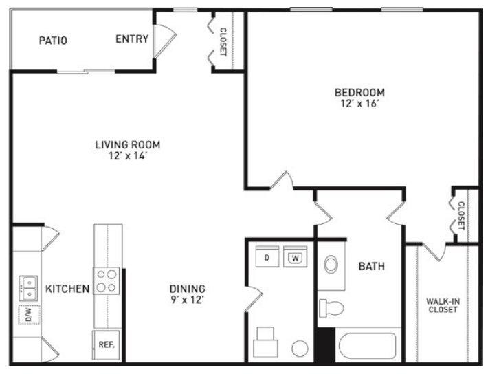 1 Bedroom 1 Bathroom Apartment for rent at Aspen Lakes Estates in Holt, MI