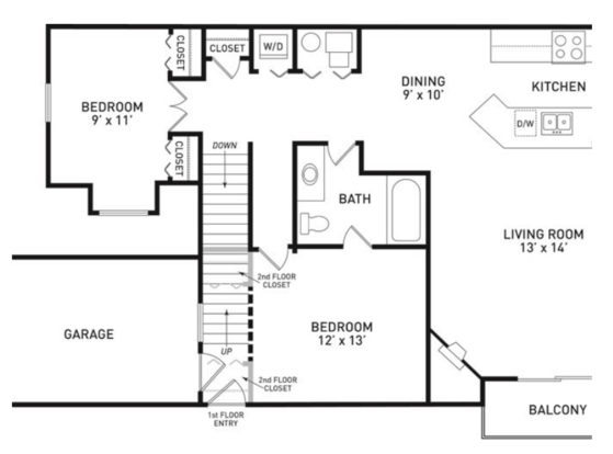 2 Bedrooms 1 Bathroom Apartment for rent at Aspen Lakes Estates in Holt, MI
