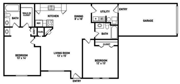 2 Bedrooms 2 Bathrooms Apartment for rent at Aspen Lakes Estates in Holt, MI