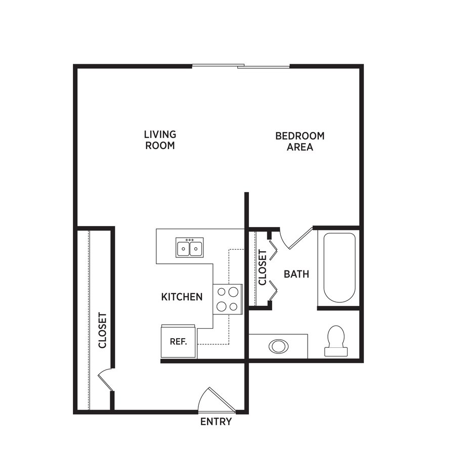 Studio 1 Bathroom Apartment for rent at West Village in East Lansing, MI