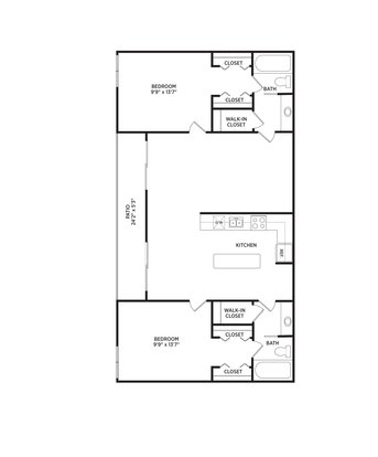 2 Bedrooms 2 Bathrooms Apartment for rent at West Village in East Lansing, MI