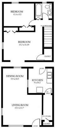2 Bedrooms 1 Bathroom Apartment for rent at Amber Square Townhomes in Lansing, MI