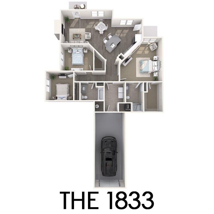 3 Bedrooms 2 Bathrooms Apartment for rent at The Quarry Apartments in Dewitt, MI
