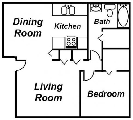 1 Bedroom 1 Bathroom Apartment for rent at Ambassador Apartments in Lansing, MI
