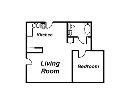 1 Bedroom 1 Bathroom Apartment for rent at Amber Square Apartments in Lansing, MI