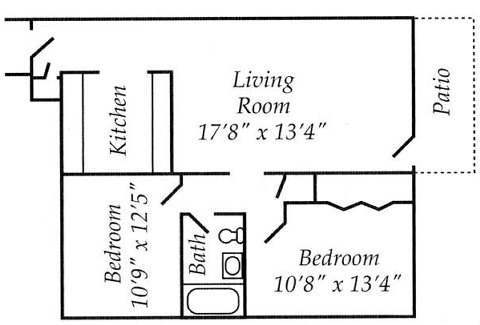 2 Bedrooms 1 Bathroom Apartment for rent at The Overlook At Mile High in Denver, CO