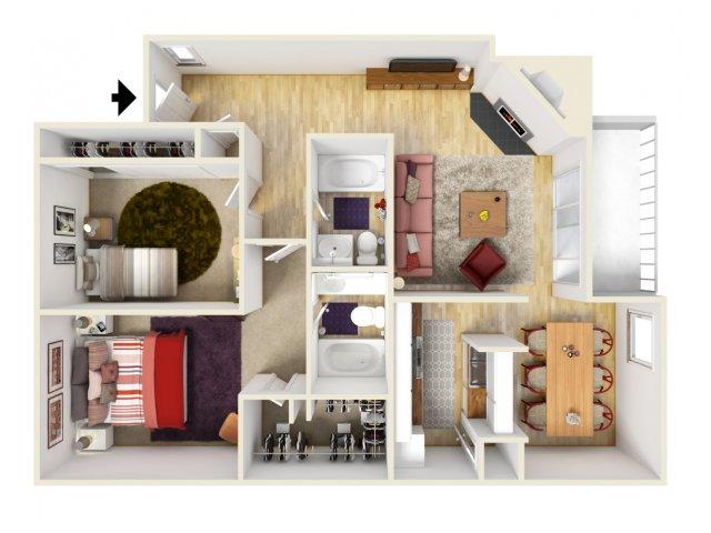 2 Bedrooms 2 Bathrooms Apartment for rent at Trails At River Park in Arlington, TX