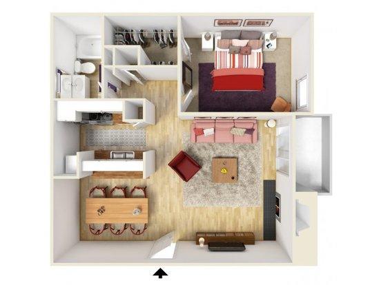 1 Bedroom 1 Bathroom Apartment for rent at Trails At River Park in Arlington, TX