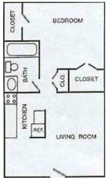1 Bedroom 1 Bathroom Apartment for rent at Summit Plaza in Arlington, TX