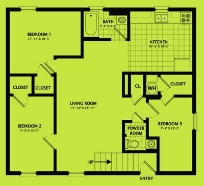 3 Bedrooms 2 Bathrooms Apartment for rent at 705 South Randolph Street in Champaign, IL