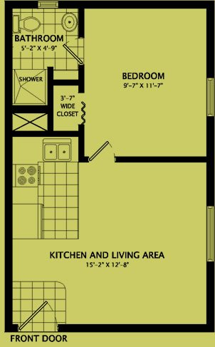 1 Bedroom 1 Bathroom Apartment for rent at 811 West Hill Street in Champaign, IL
