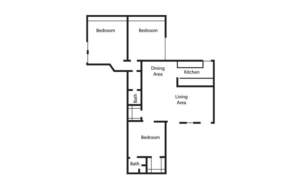 3 Bedrooms 2 Bathrooms Apartment for rent at Equinox in Arlington, TX