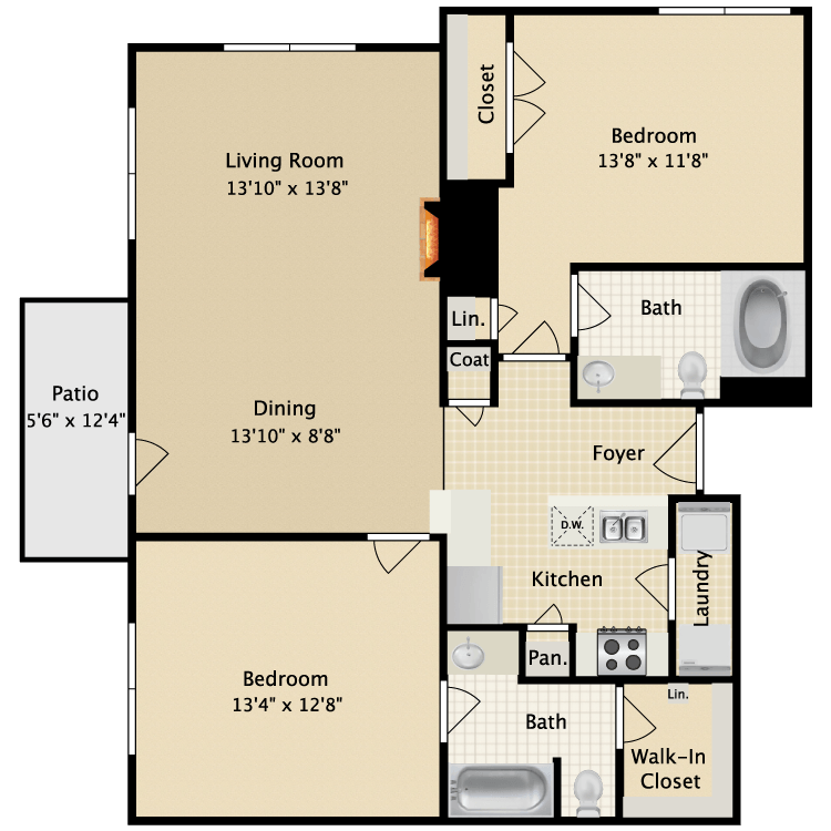 2 Bedrooms 2 Bathrooms Apartment for rent at Ascension Point Condominiums in Arlington, TX