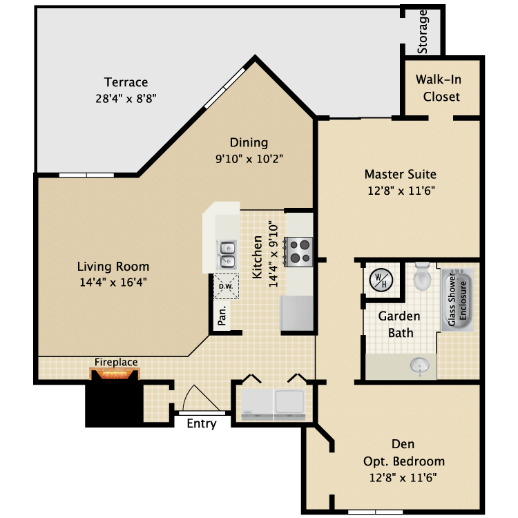 2 Bedrooms 1 Bathroom Apartment for rent at Ascension Point Condominiums in Arlington, TX