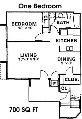 1 Bedroom 1 Bathroom Apartment for rent at Timber Lake in East Lansing, MI