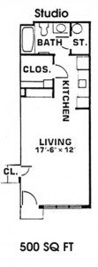 Studio 1 Bathroom Apartment for rent at Timber Lake in East Lansing, MI