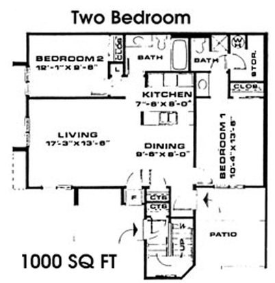 2 Bedrooms 2 Bathrooms Apartment for rent at Timber Lake in East Lansing, MI