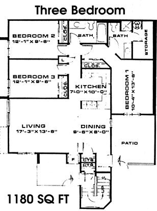3 Bedrooms 2 Bathrooms Apartment for rent at Timber Lake in East Lansing, MI