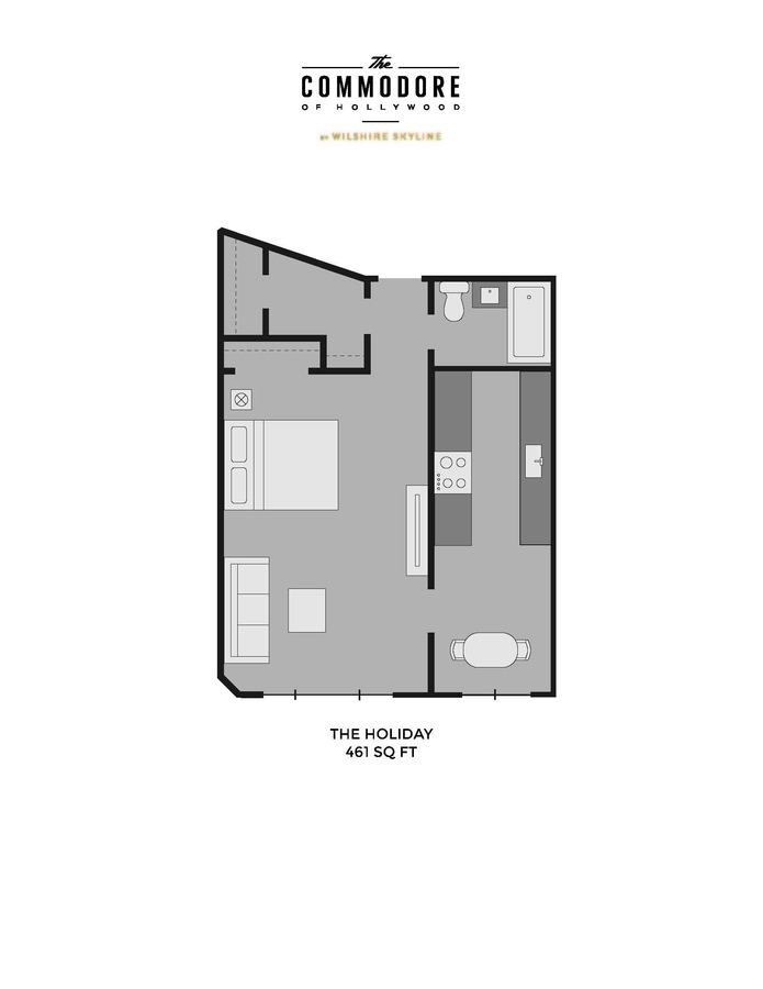 Studio 1 Bathroom Apartment for rent at The Commodore in Los Angeles, CA