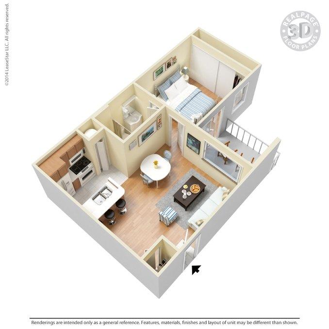 Studio 1 Bathroom Apartment for rent at Eastmont Apartments in Arlington, TX