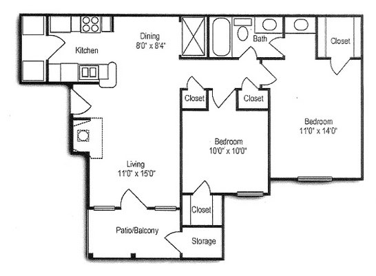 2 Bedrooms 2 Bathrooms Apartment for rent at The Residenz in Kettering, OH