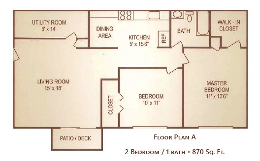 2 Bedrooms 1 Bathroom Apartment for rent at Meadowrun Apartments in Fairborn, OH