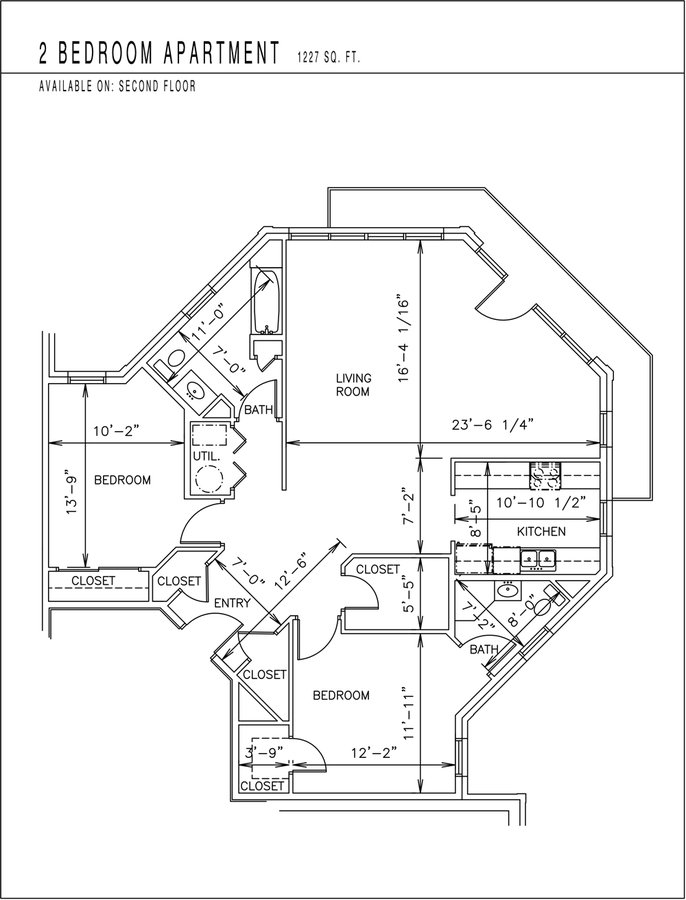 2 Bedrooms 2 Bathrooms Apartment for rent at Burnham Place Apartments in Bloomington, IN