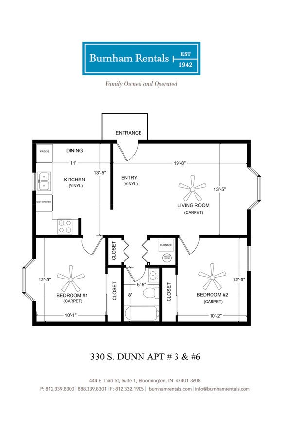 2 Bedrooms 1 Bathroom Apartment for rent at 330 S Dunn St in Bloomington, IN