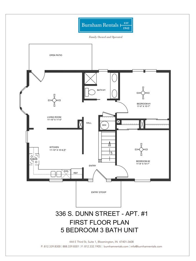 5 Bedrooms 3 Bathrooms Apartment for rent at 336 S Dunn St in Bloomington, IN