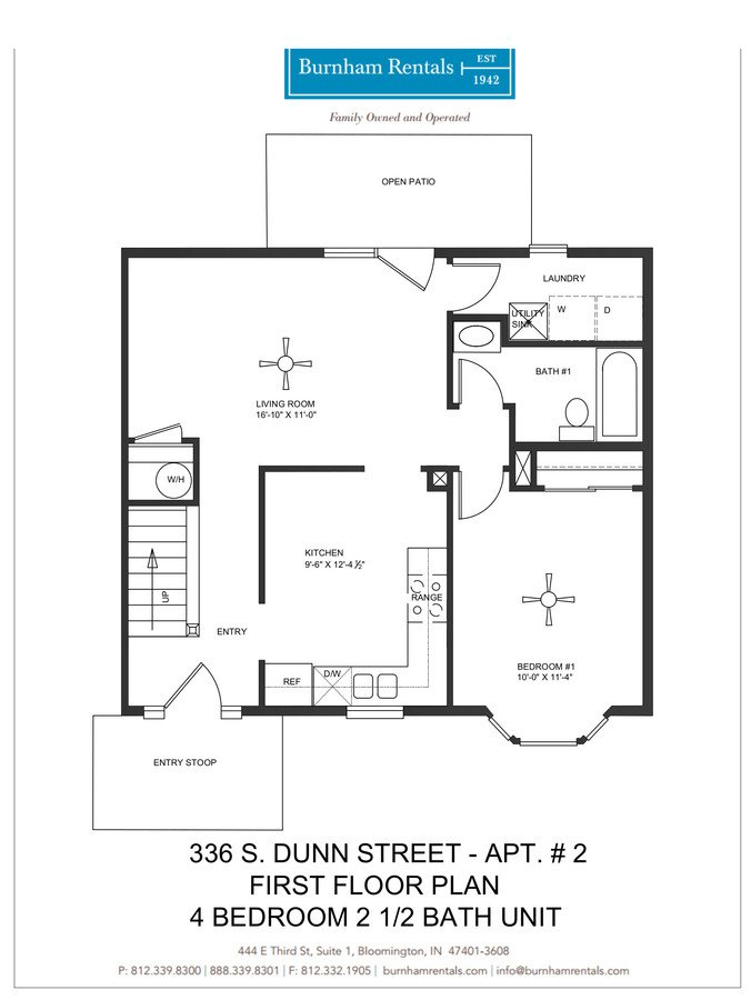 4 Bedrooms 2 Bathrooms Apartment for rent at 336 S Dunn St in Bloomington, IN