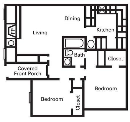 2 Bedrooms 1 Bathroom Apartment for rent at Center Place Apartment Homes in Arlington, TX