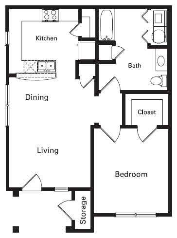 1 Bedroom 1 Bathroom Apartment for rent at Center Place Apartment Homes in Arlington, TX