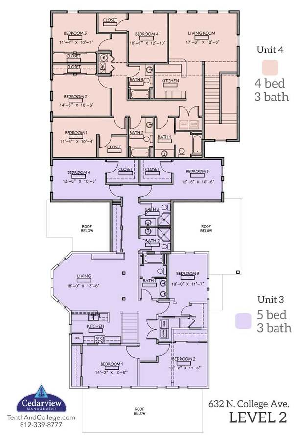5 Bedrooms 3 Bathrooms Apartment for rent at 632 N College in Bloomington, IN