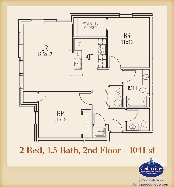 2 Bedrooms 2 Bathrooms Apartment for rent at Morton Grad in Bloomington, IN