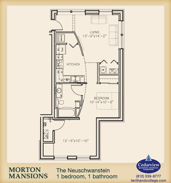 1 Bedroom 1 Bathroom Apartment for rent at Morton Mansions in Bloomington, IN