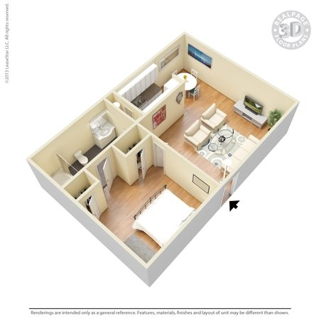 1 Bedroom 1 Bathroom Apartment for rent at Atrium Gardens in Arlington, TX