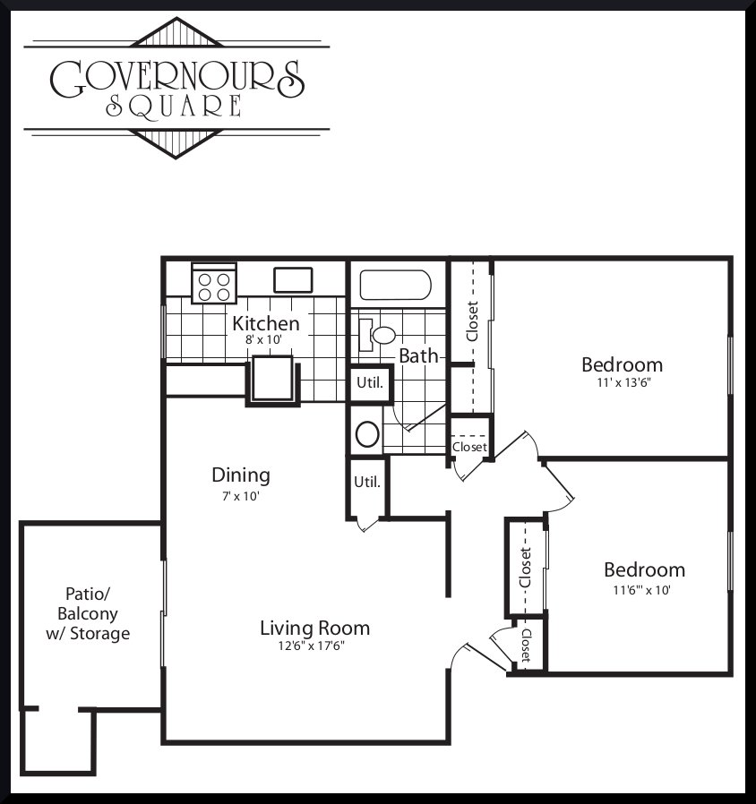 2 Bedrooms 1 Bathroom Apartment for rent at Governours Square in Centerville, OH