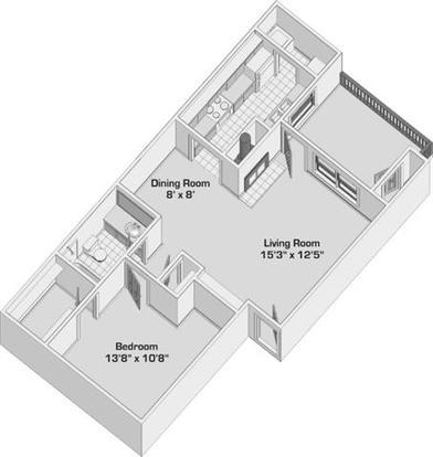 1 Bedroom 1 Bathroom Apartment for rent at Woodcreek Apartments Homes in Arlington, TX