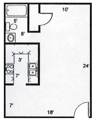 Studio 1 Bathroom Apartment for rent at The Bel Aire Apartments in Arlington, TX