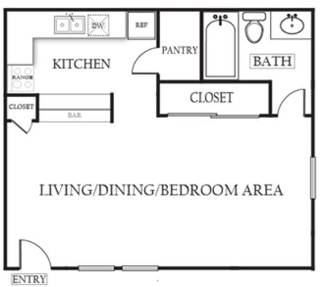 Studio 1 Bathroom Apartment for rent at The Arbors Of Arlington in Arlington, TX
