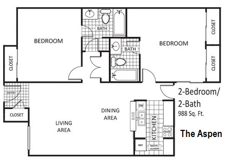 2 Bedrooms 2 Bathrooms Apartment for rent at The Arbors Of Arlington in Arlington, TX